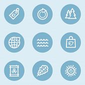 Ecology web icon set 3,  blue buttons