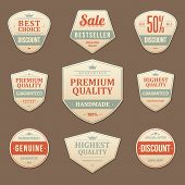 Vintage vector design elements. Retro style sale typographic labels,  tags, badges, stamps, arrows a