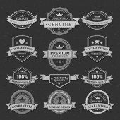 Vintage vector design elements. Retro style chalkboard typographic labels,  tags, badges, stamps, ar
