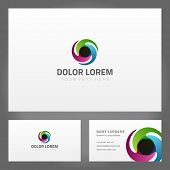 Business card design and abstract creative icon. Vector design template.