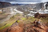 Landmannalaugar, colour mountains of Iceland