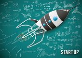 Vector illustration concept of new business project start-up development and launch a new innovation product.