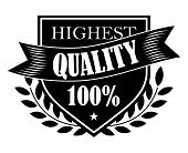 100% Highest Quality label