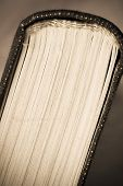 Old Book pages close-up, art retro style toned photo