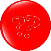 Stylish Web Button With Question Mark