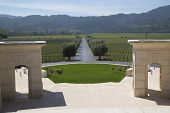 Napa Valley view from Opus One Winery