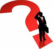 Question Mark Business Man Decision Confusion Problem