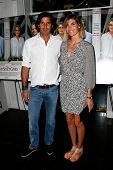EAST HAMPTON, NEW YORK-JULY 6: Argentine polo player Nacho Figueras and wife Delfina Blaquier attend