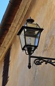 iron outdoor street lamp