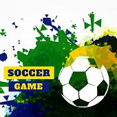 creative abstract football design vector
