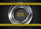 Abstract vector tech background with danger tape
