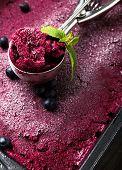 Blueberries Ice-cream