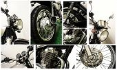 stock photo of chopper  - All pic set  vintage Motorcycle background detail - JPG