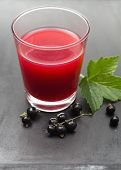 Glass of black currant juice