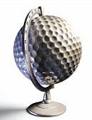 Golf Ball Desktop Globe Conceptual Image