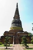 Ancient Pagoda At Wat Yai Chaimongkol,