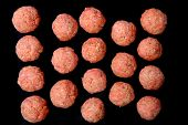 Raw Meat Balls Background