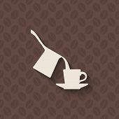 coffee turk and cup on seamless background