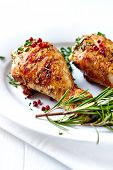 Roast Chicken with Herbs and Pink Pepper