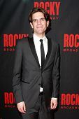 NEW YORK-MAR 13: Director Alex Timbers attends the 'Rocky' Broadway opening night after party at Ros