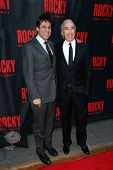NEW YORK-MAR 13: Film producers Gary Barber (R) and Jonathan Glickman attend the 'Rocky' Broadway op