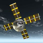 Satellite With Dish 2