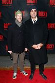 NEW YORK-MAR 13: Actors Bobby Cannavale (R) and Joey Slotnick attend the 'Rocky' Broadway opening ni