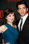 NEW YORK-MAR 13: Actors Margo Seibert (L) and Andy Karl attend the 'Rocky' Broadway opening night af