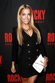 NEW YORK-MAR 13: Dutch television personality/model Sylvie Meis attends the 'Rocky' Broadway opening
