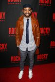 NEW YORK-MAR 13: Actor James Brown III attends the 'Rocky' Broadway opening night after party at Ros