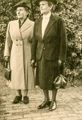 GERMANY, CIRCA FORTIES - Vintage photo of two elegant women in hats