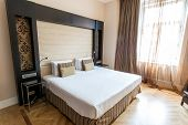 PRAGUE - MAY 9: Room in Eurostars Thalia Hotel on May 9, 2014 in Prague, Czech Republic. Eurostars T
