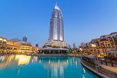 DUBAI, UAE - 1 APRIL 2014: Dubai Mall and the Luxurious Address Hotel in downtown of Dubai, UAE. Dub