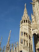 Milan gothic cathedral at the piazza del duomo