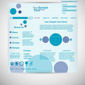 Website template circle website purple blue