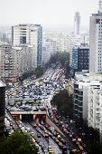 Traffic Jam In Bucharest