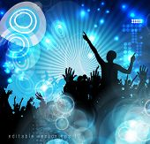 Disco club. Dancing people. Vector illustration
