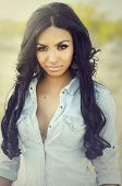 Beautiful young exotic mixed ethnicity woman