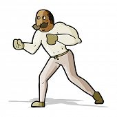 cartoon retro boxer man