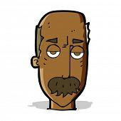 cartoon bored old man