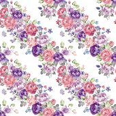 Stylish floral seamless pattern. Retro decor illustration