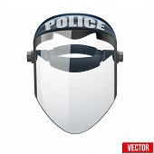 Police protect mask. Vector Illustration.