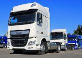 White DAF XF Euro 6 Truck