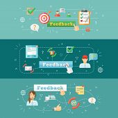 Feedback web infographic
