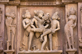 foto of kamasutra  - Erotic Temple in Khajuraho - JPG