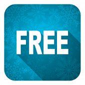 free flat icon, christmas button