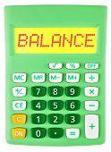 Calculator With Balance On Display