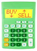 Calculator With Buy Sell On Display Isolated