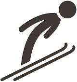 Winter Sport Icons - Ski Jumping