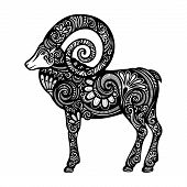 Vector Decorative Patterned Sheep